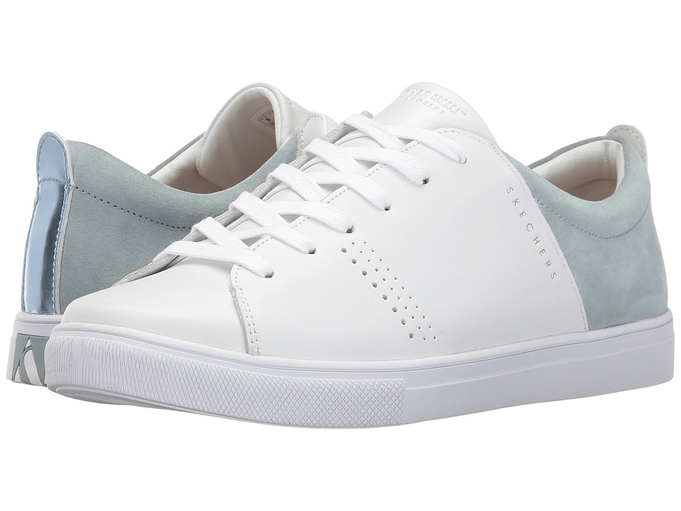 SKECHERS Street - Moda (White/Gray) Women's Lace up casual Shoes