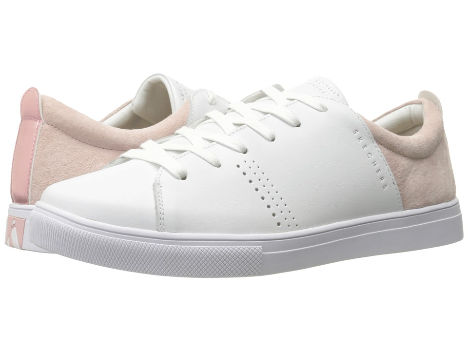 SKECHERS Street - Moda (White/Pink) Women's Lace up casual Shoes