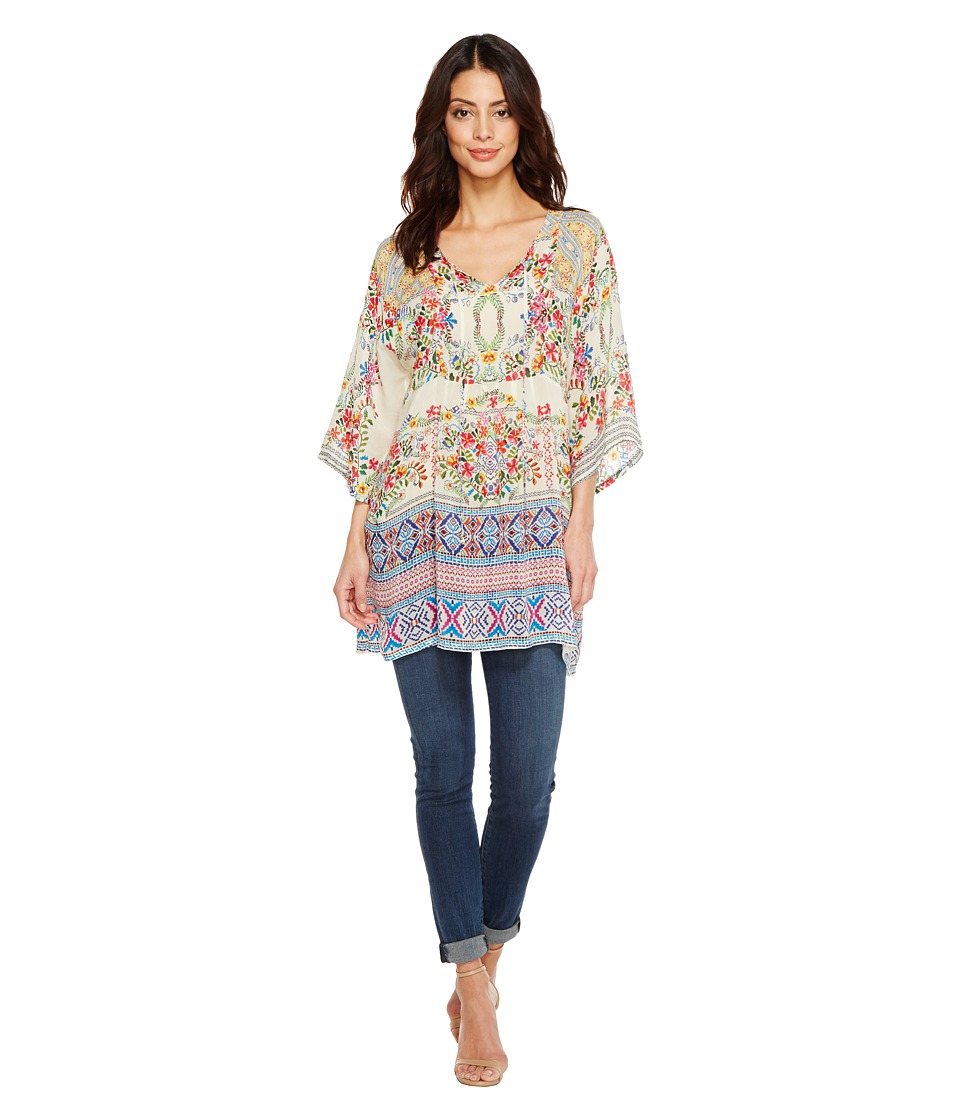 Johnny Was - Bias Flower Top (Multi B) Women's Clothing
