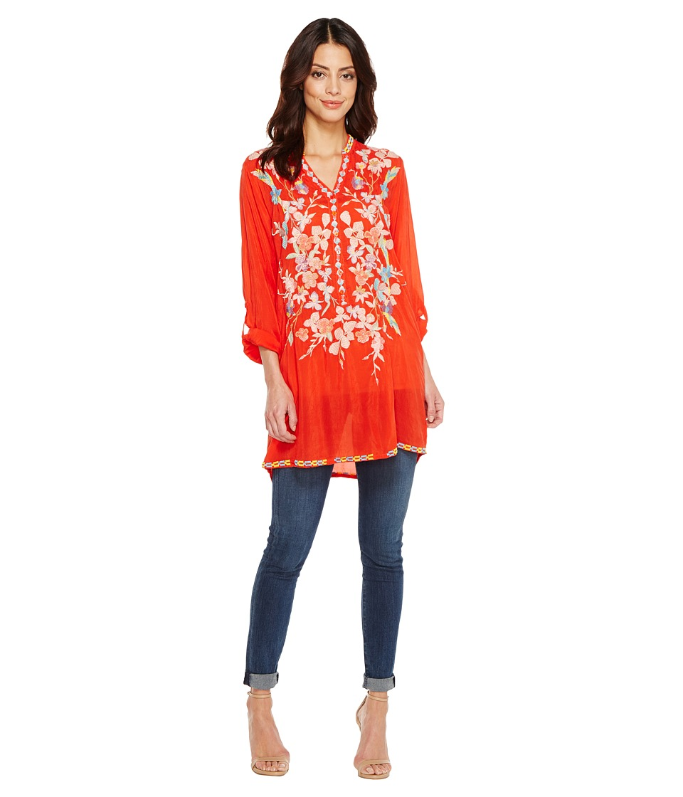 Johnny Was - Nikki Tunic (Electric Coral) Women's Blouse
