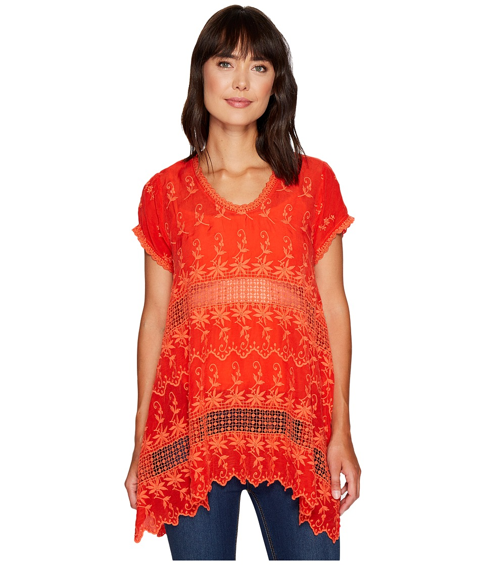Johnny Was - Lilano Tunic (Electric Coral) Women's Blouse