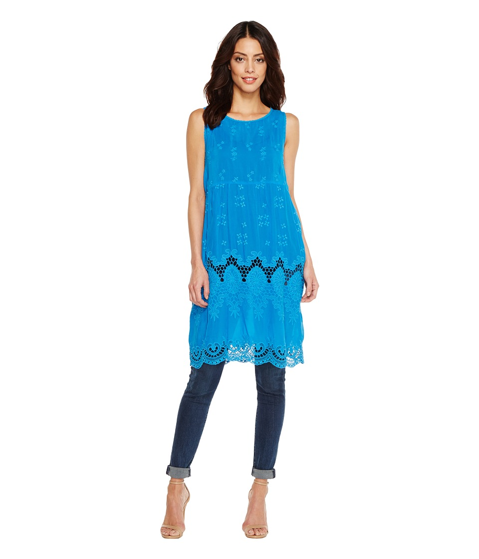 Johnny Was - Bekka Long Tunic (Cobalt) Women's Blouse