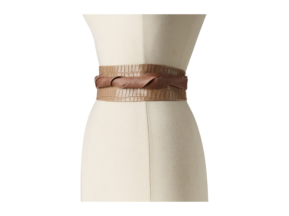 ADA Collection - Obi Classic Wrap (Taupe Croco) Women's Belts