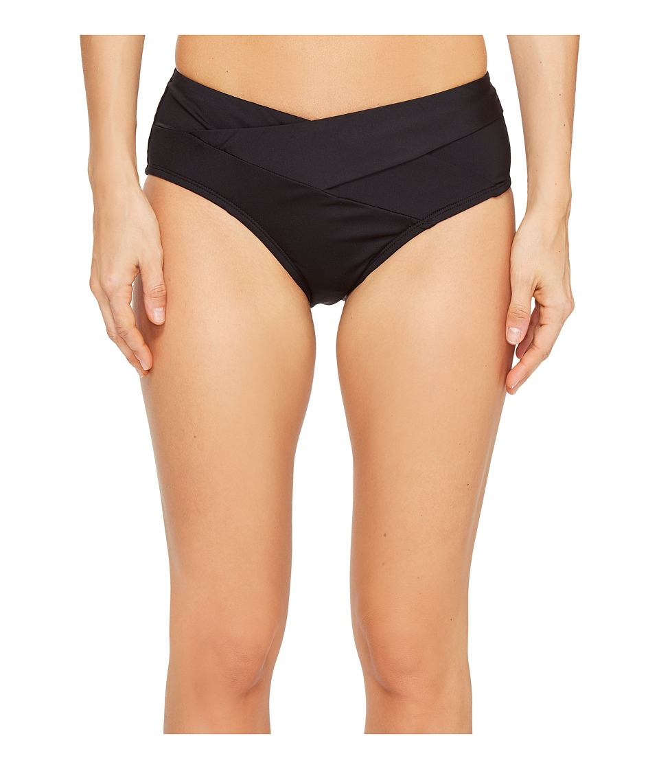 Kenneth Cole - Sexy Solids Crossover Hipster Bottom (Black) Women's Swimwear