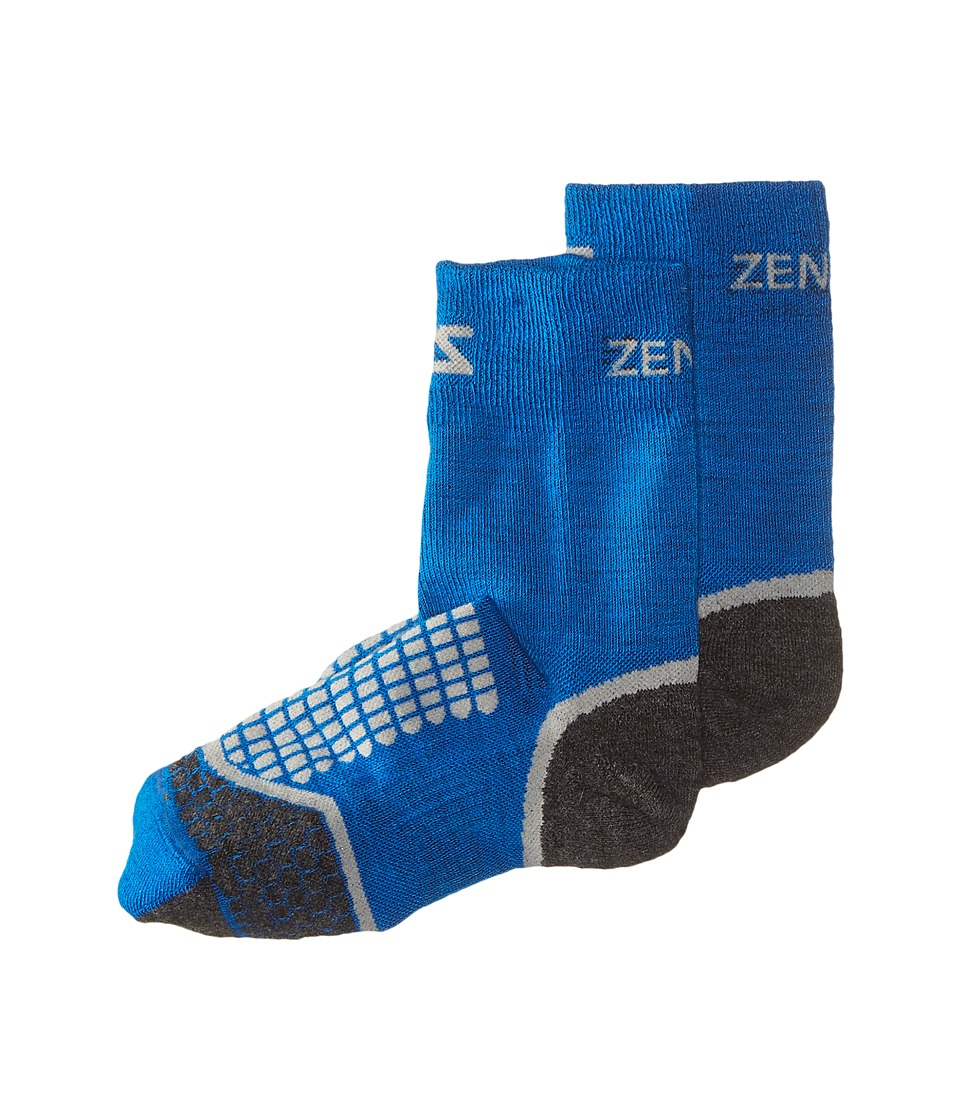 Zensah - Grit Running Socks Crew (Sporty Blue) Crew Cut Socks Shoes