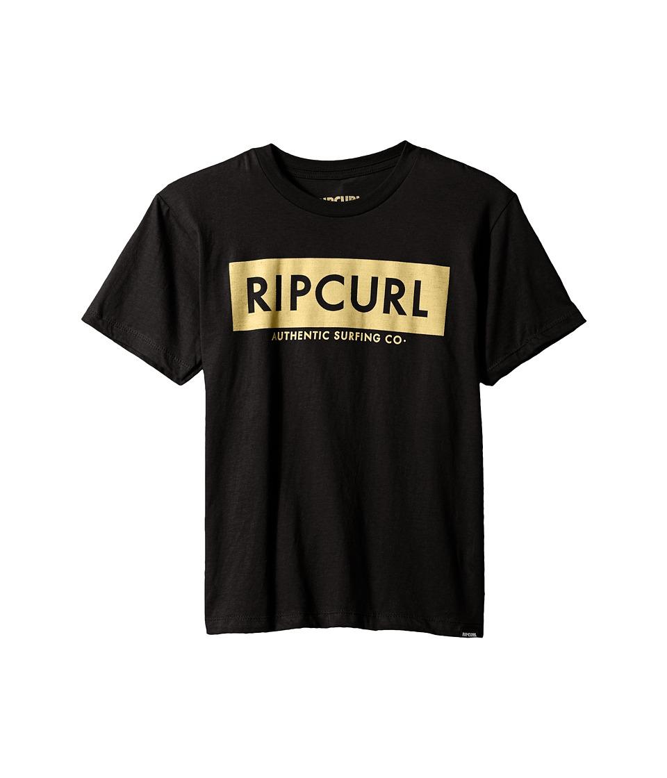 Rip Curl Kids Zipper Premium Tee (Big Kids) (Black) Boy's T Shirt