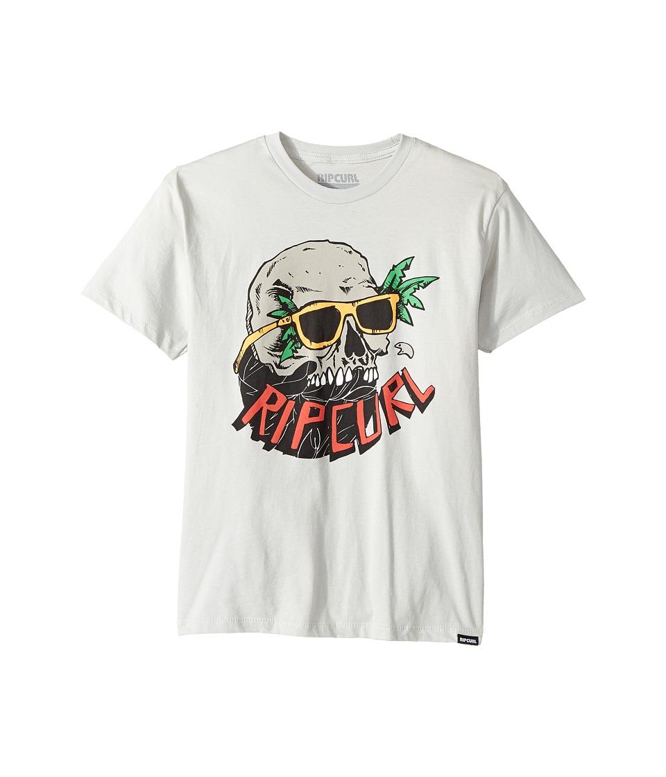 Rip Curl Kids - Skull Vibes Premium Tee (Big Kids) (Silver) Boy's T Shirt