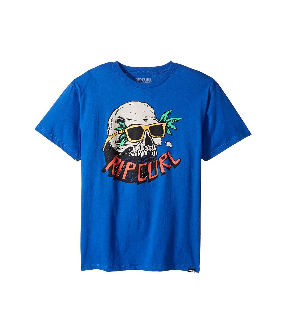 Rip Curl Kids - Skull Vibes Premium Tee (Big Kids) (Royal) Boy's T Shirt