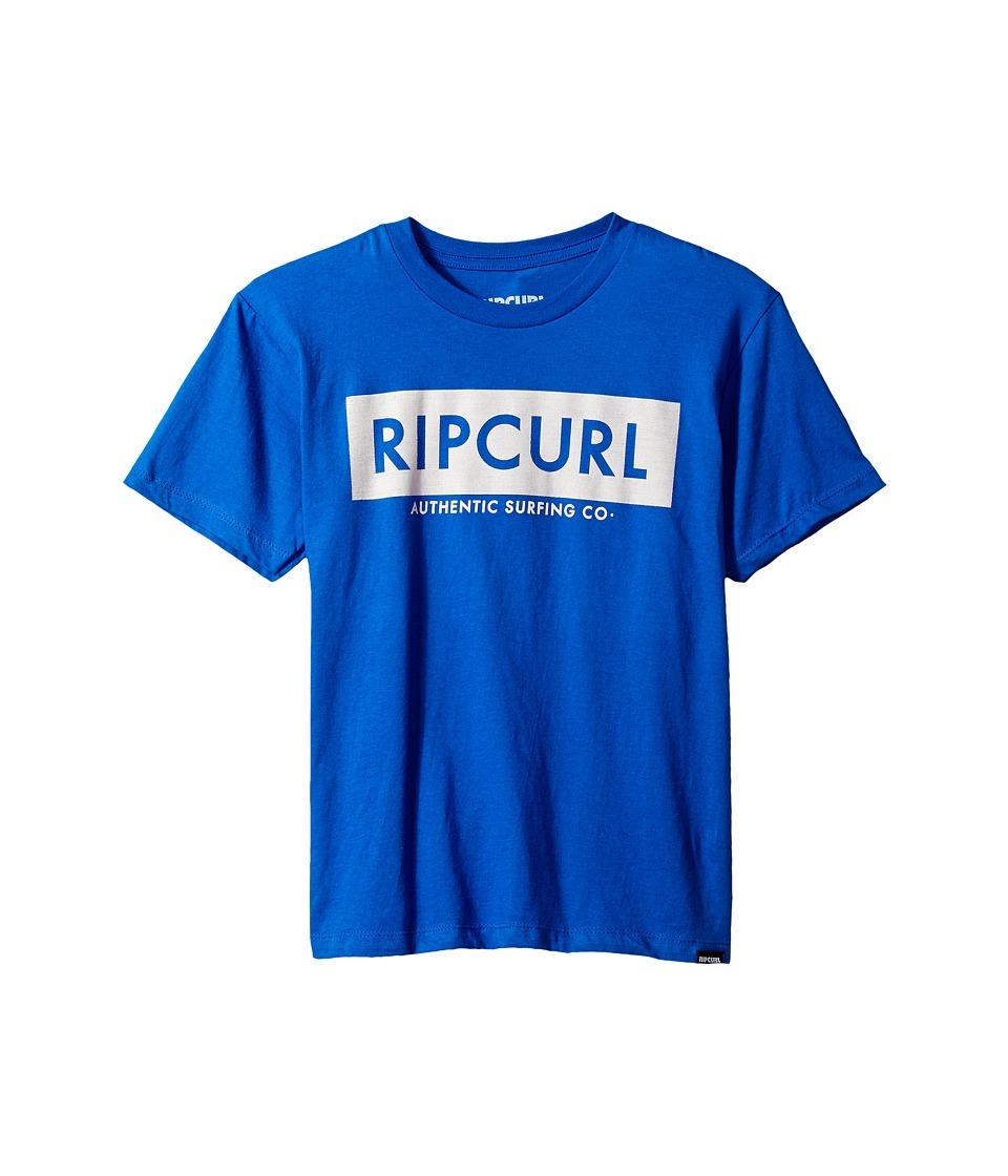 Rip Curl Kids Zipper Premium Tee (Big Kids) (Royal) Boy's T Shirt