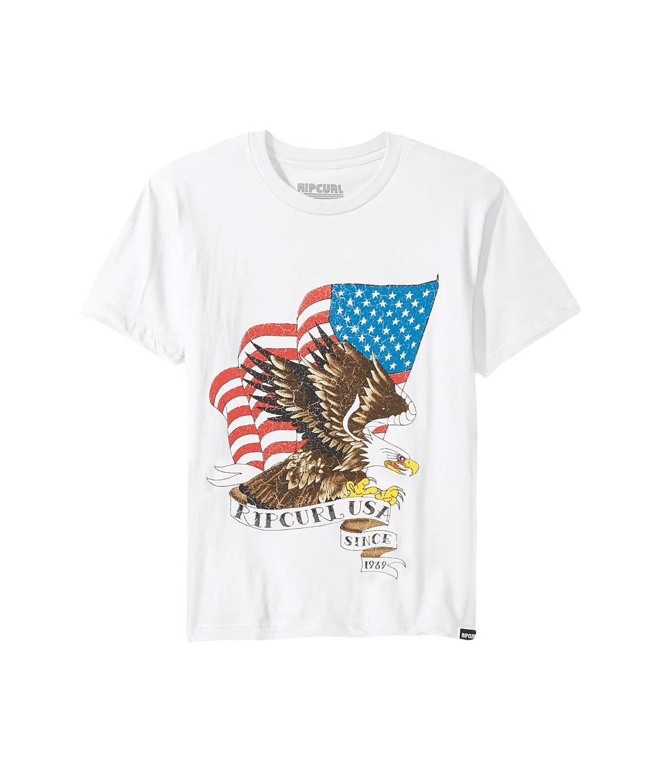 Rip Curl Kids - American Premium Tee (Big Kids) (White) Boy's T Shirt