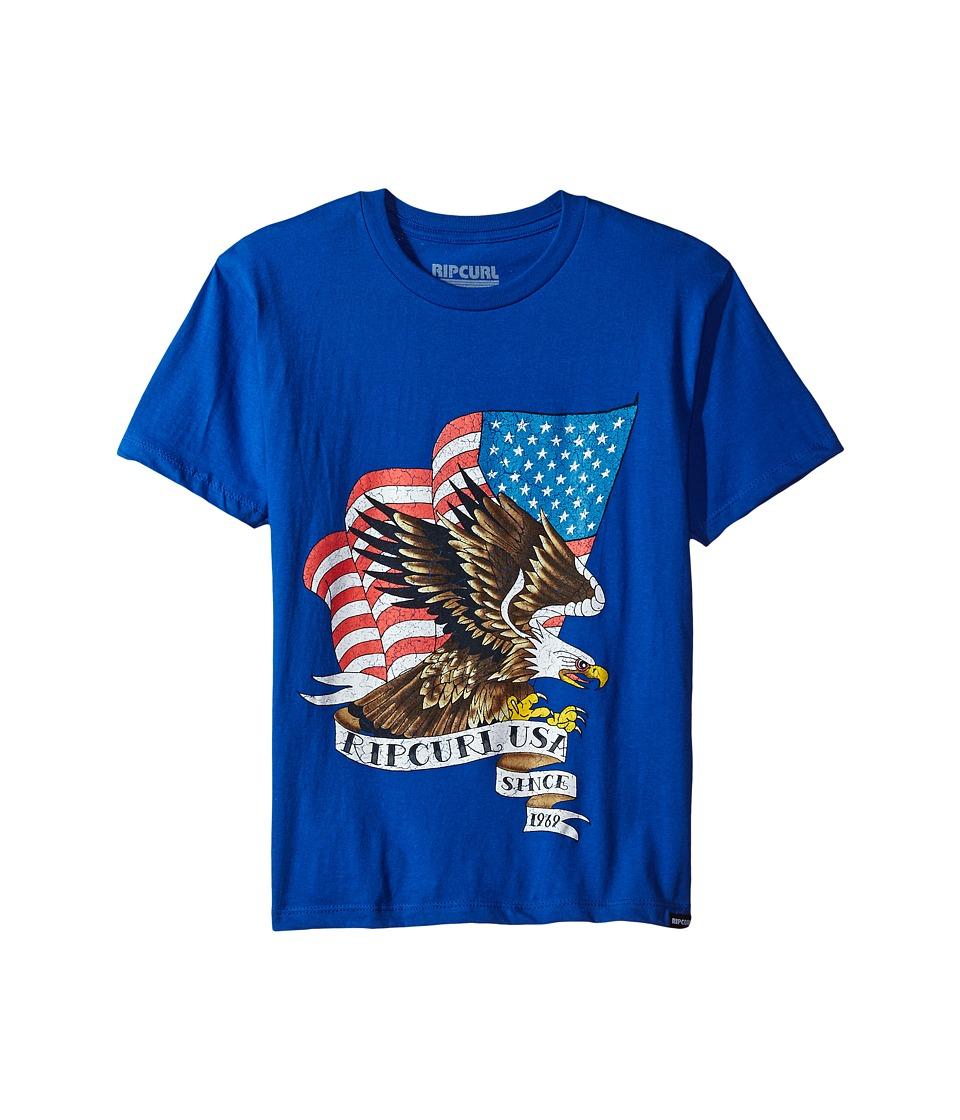 Rip Curl Kids - American Premium Tee (Big Kids) (Royal) Boy's T Shirt