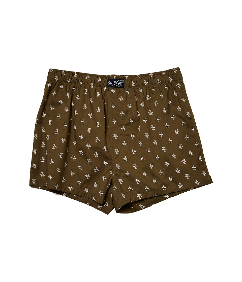 Original Penguin - Woven Boxer (Olive) Men's Underwear