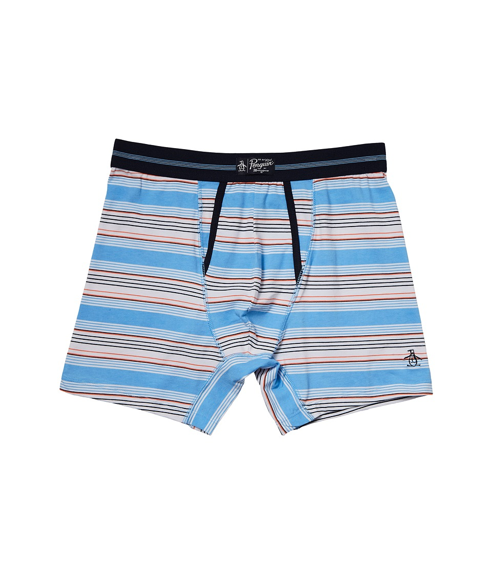Original Penguin - Boxer Brief (Little Boy Blue Field Stripe) Men's Underwear