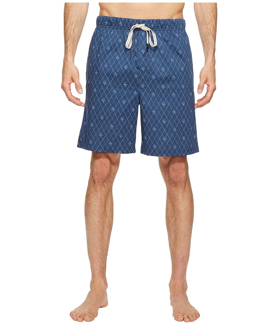 Original Penguin - Short Woven Jam (Dark Sapphire Pete Argyle) Men's Pajama