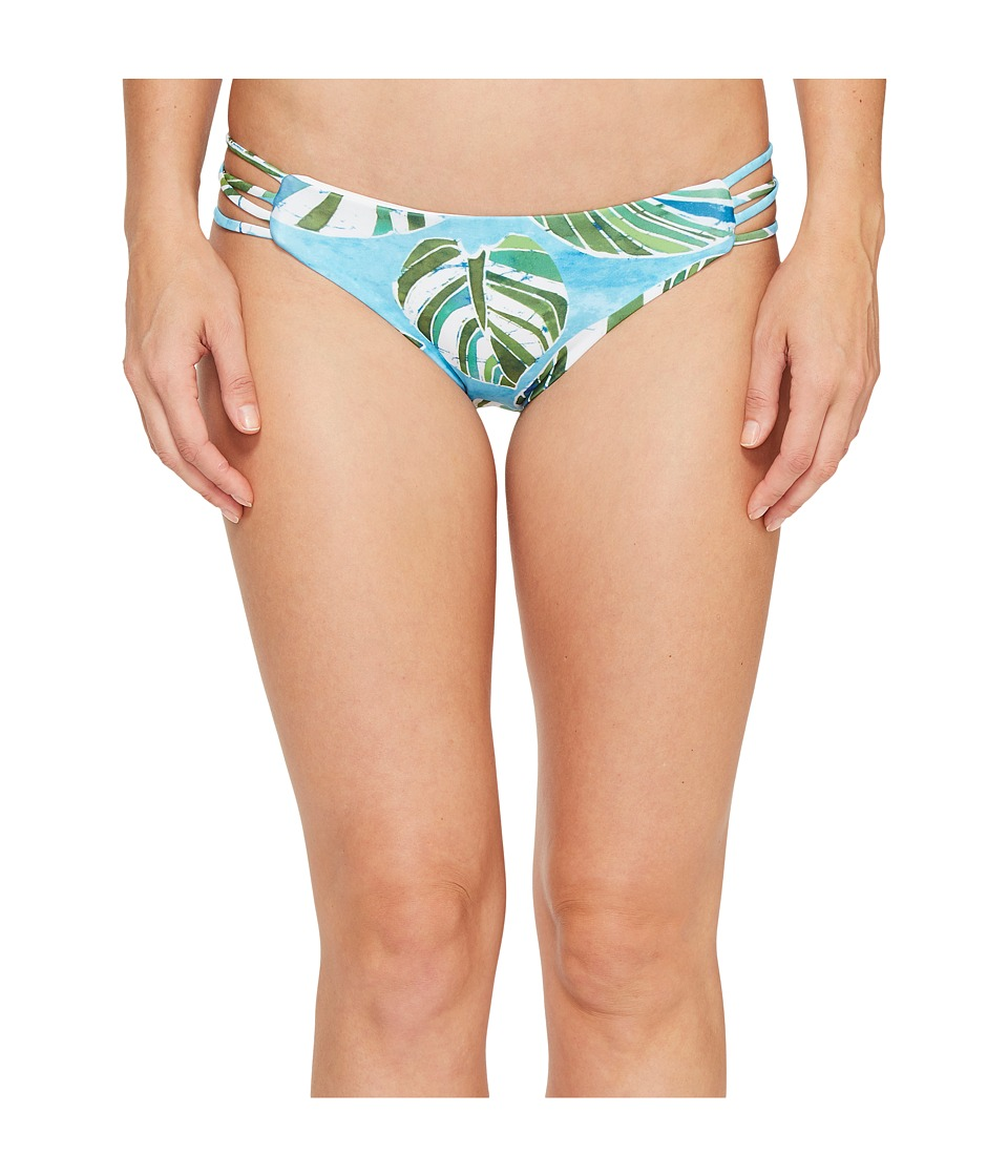 L*Space - Sumatra Palm Low Down Classic Bottom (Turquoise) Women's Swimwear