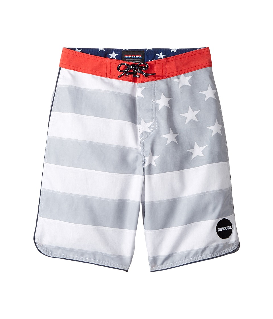 Rip Curl Kids Freestate Boardshorts (Big Kids) (White) Boy