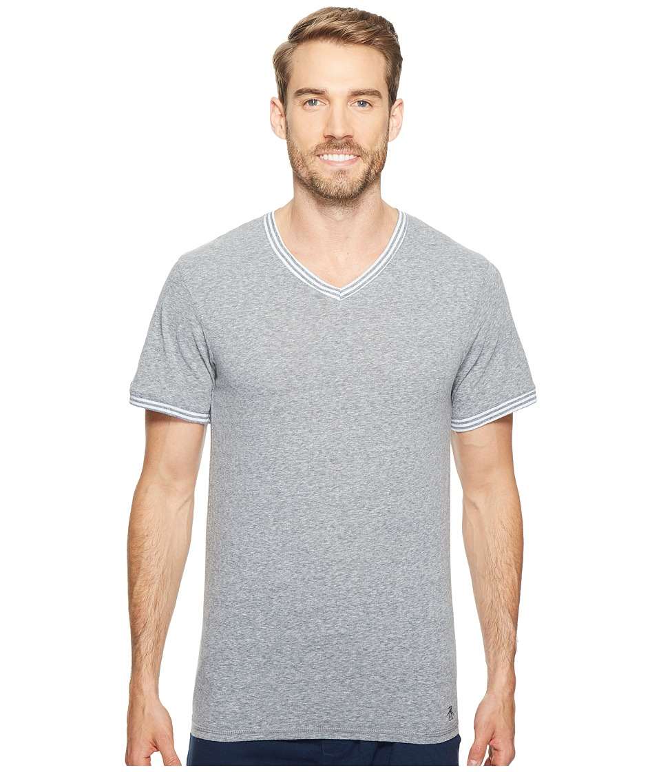 Original Penguin - V-Neck Short Sleeve (Dark Sapphire) Men's Clothing
