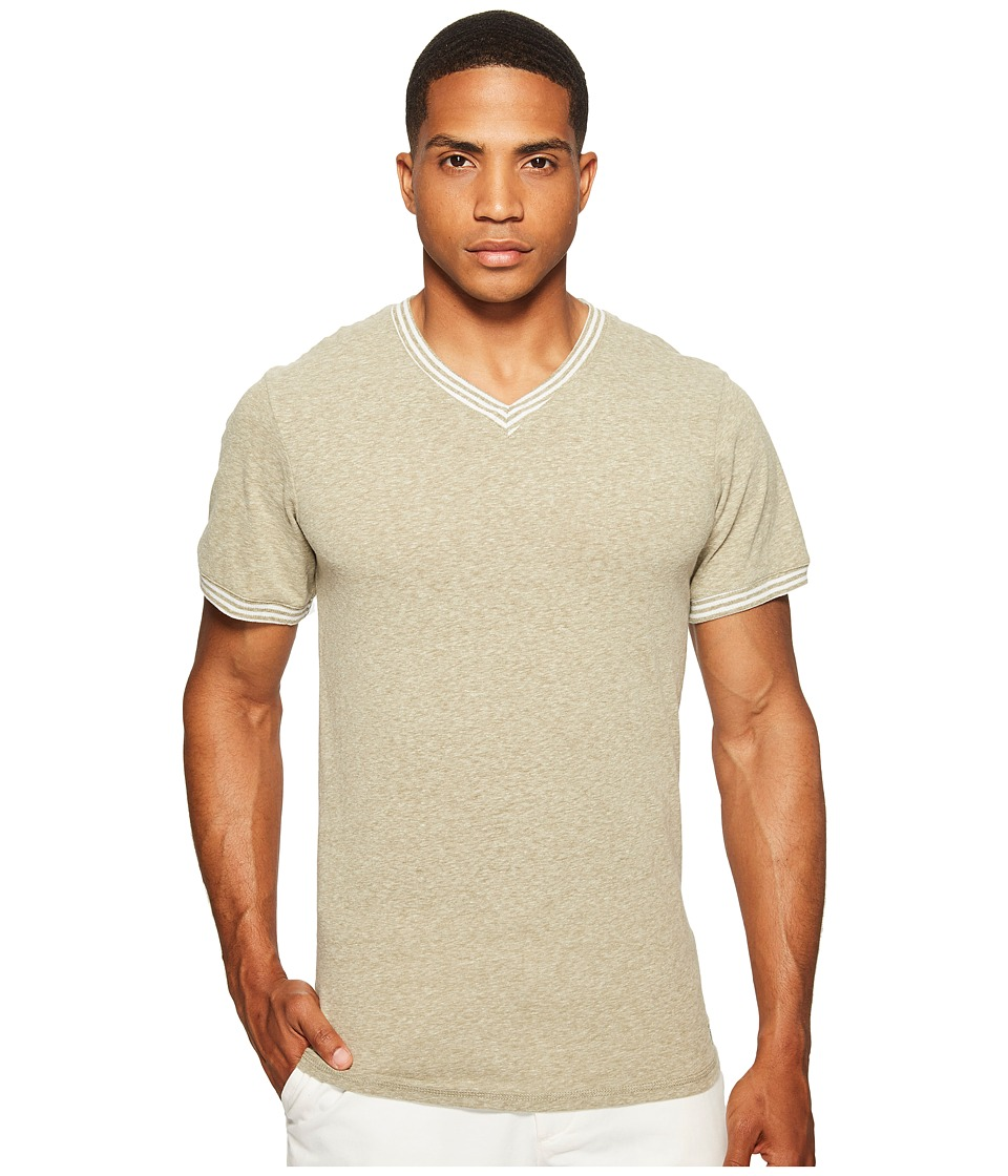 Original Penguin V-Neck Short Sleeve (Burnt Olive Wild) Men