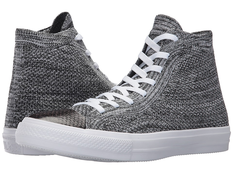 Converse Chuck Taylor(r) All Star(r) X Nike Flyknit Hi (Black/Wolf Grey/White) Shoes