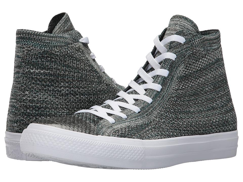 Converse Chuck Taylor(r) All Star(r) X Nike Flyknit Hi (Dark Atomic Teal/Igloo/White) Shoes