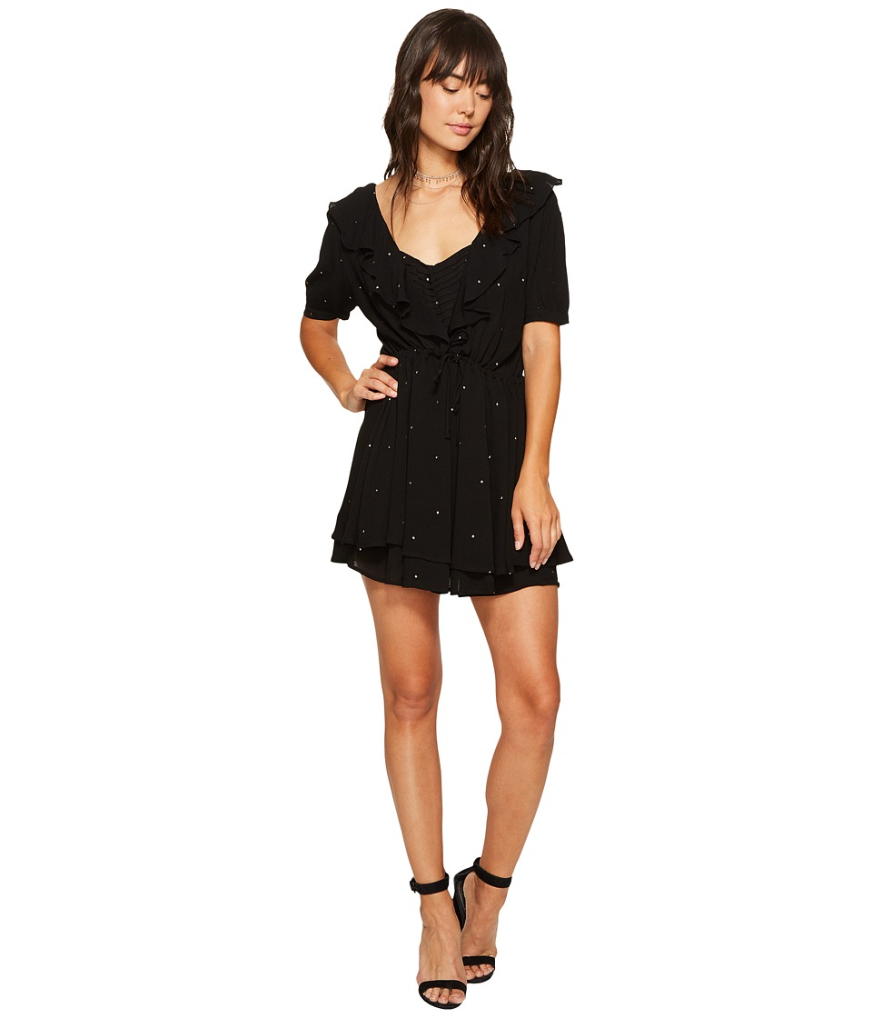 For Love and Lemons - Disco Baby Drawstring Dress (Black Star) Women's Dress