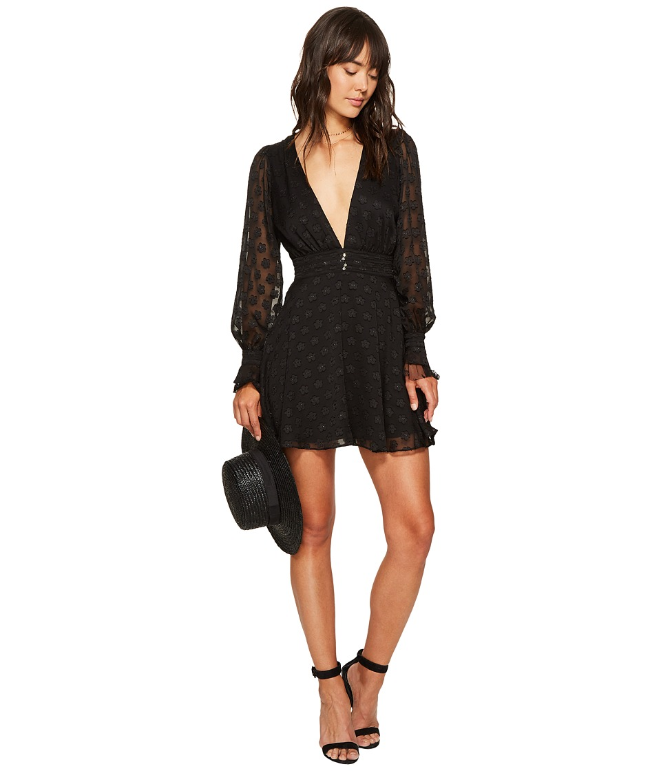 For Love and Lemons - Modern Long Sleeve Dress (Black Daisy) Women's Dress