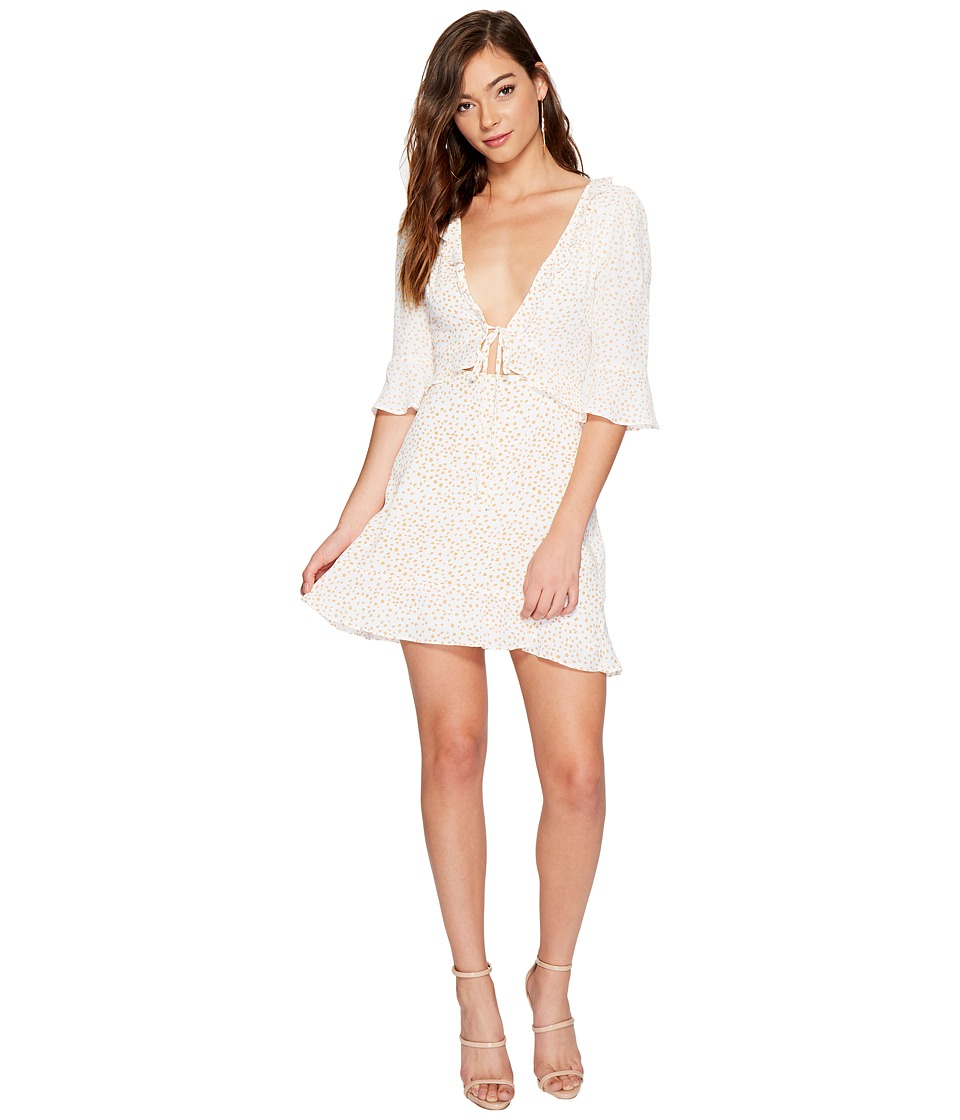 For Love and Lemons - Nostalgic Tie Front Dress (White Star) Women's Dress