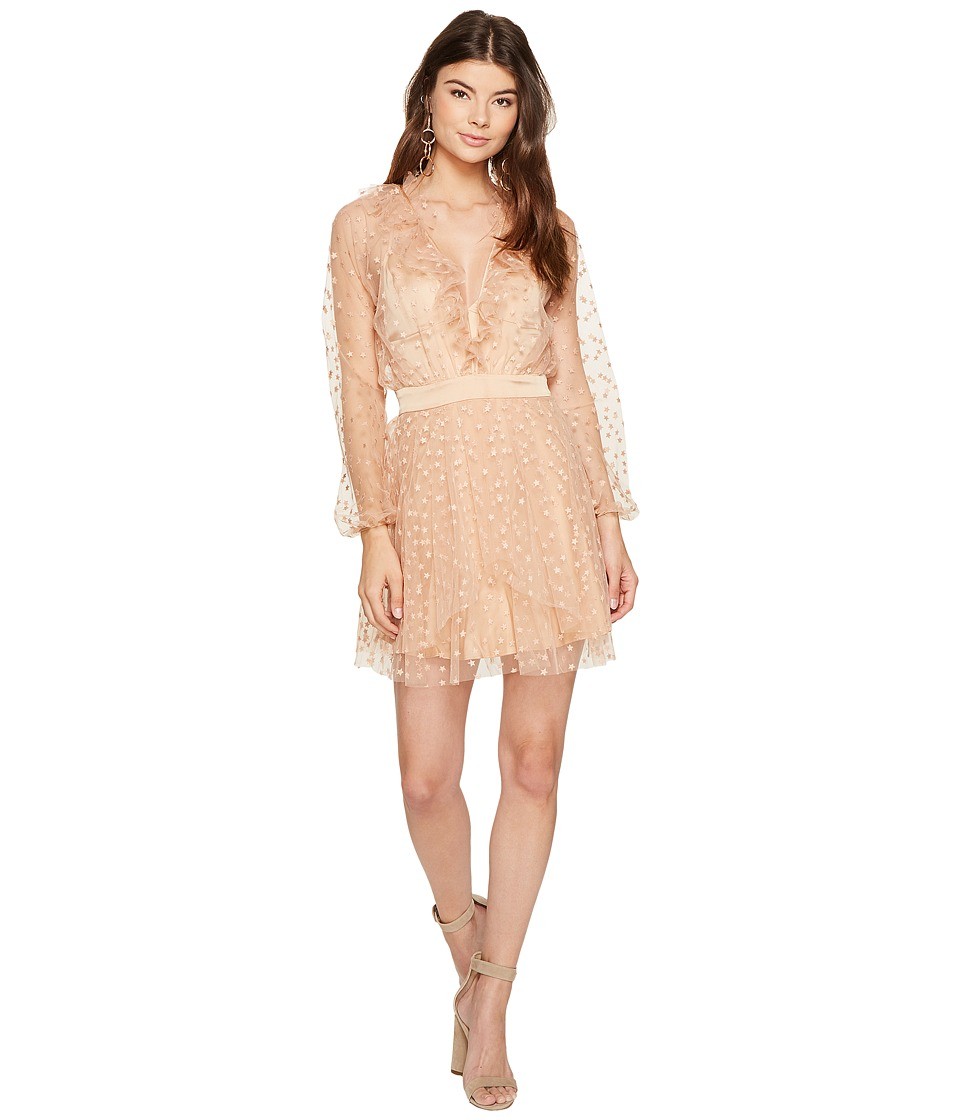 For Love and Lemons - All That Glitters Mini Dress (Almond) Women's Dress