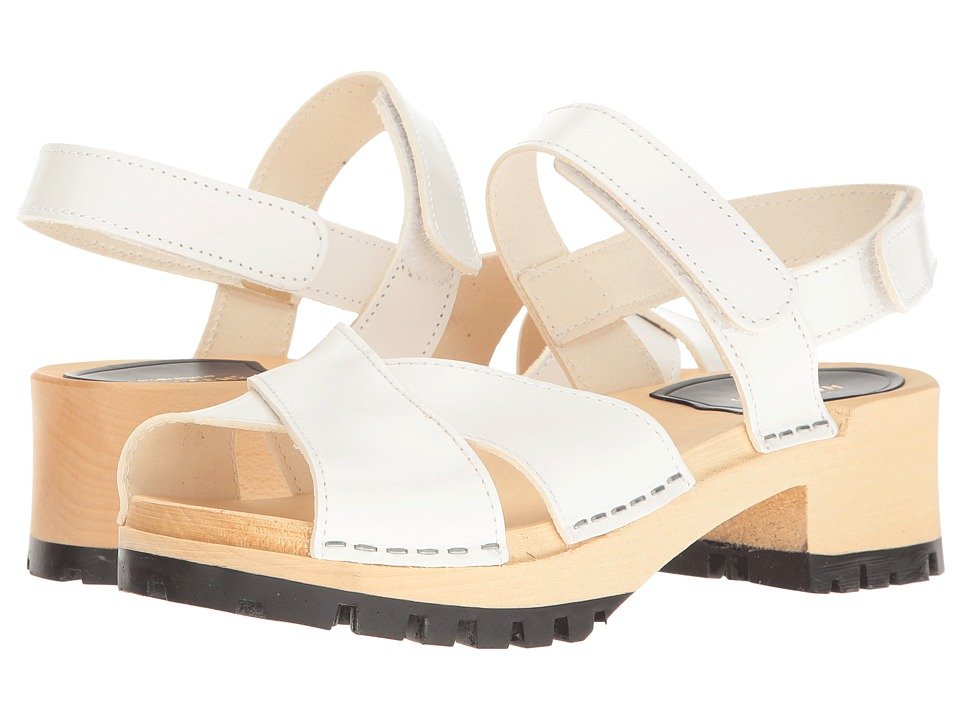 Swedish Hasbeens - Cross Tracta (White) Women's Shoes