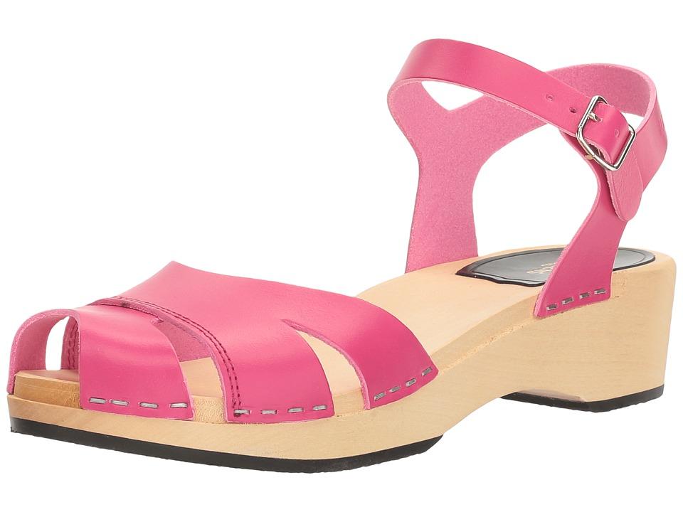 Swedish Hasbeens - Suzanne Debutant (Neon Pink) Women's Sandals