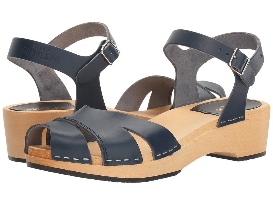 Swedish Hasbeens - Suzanne Debutant (Dark Blue) Women's Sandals