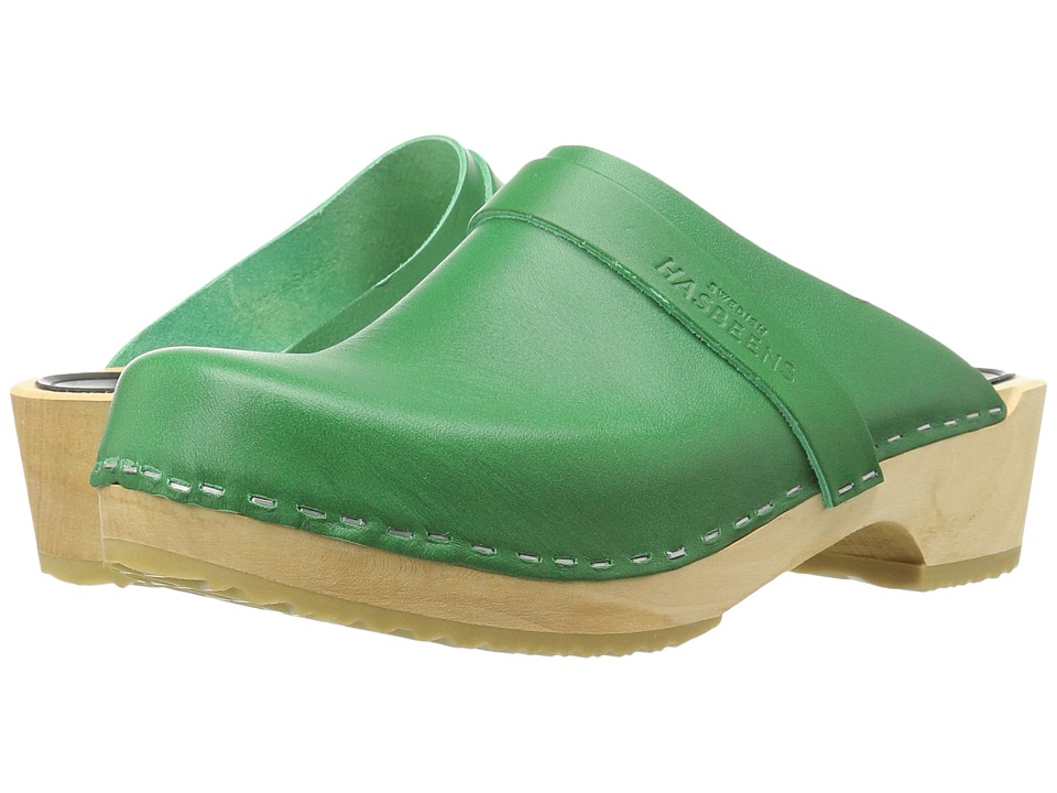 Swedish Hasbeens - Swedish Husband (Strong Green) Women's Clog Shoes