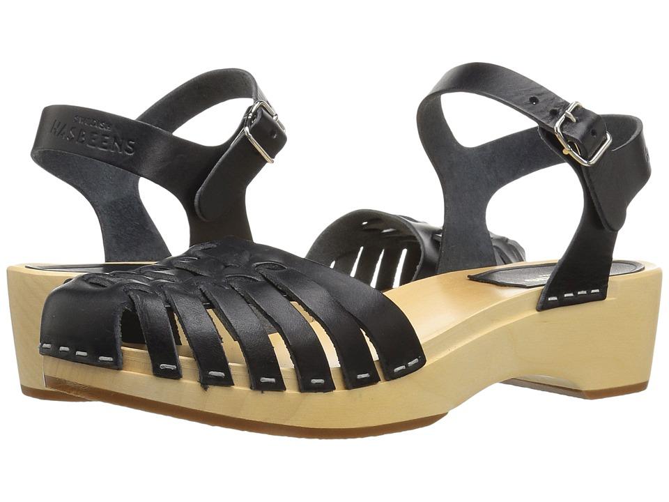 Swedish Hasbeens - Snake Debutant (Black) Women's Shoes