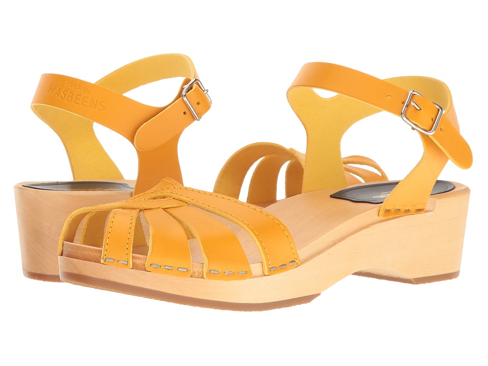 Swedish Hasbeens - Cross Strap Debutant (Warm Yellow) Women's Sandals