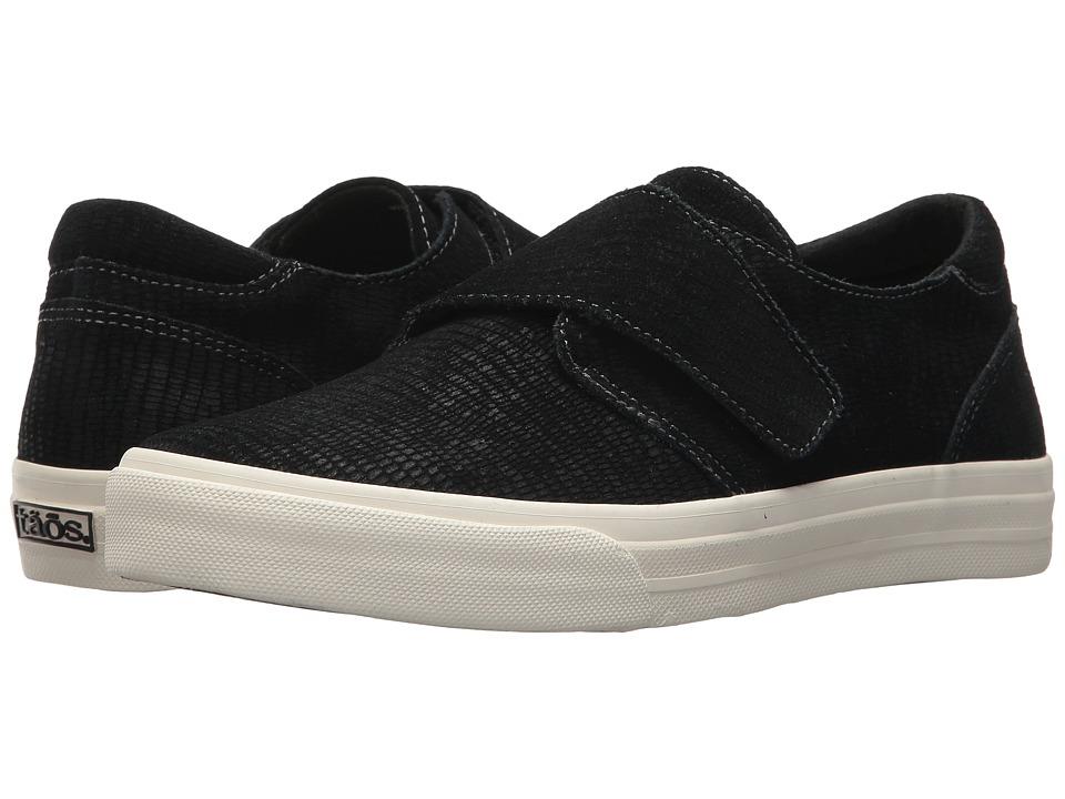 Taos Footwear Soul (Black Embossed Suede) Women