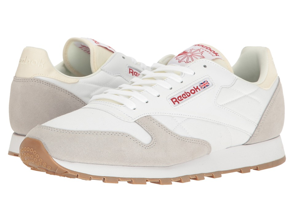 Reebok - CL Leather AG (White/Skull Grey) Men's Shoes