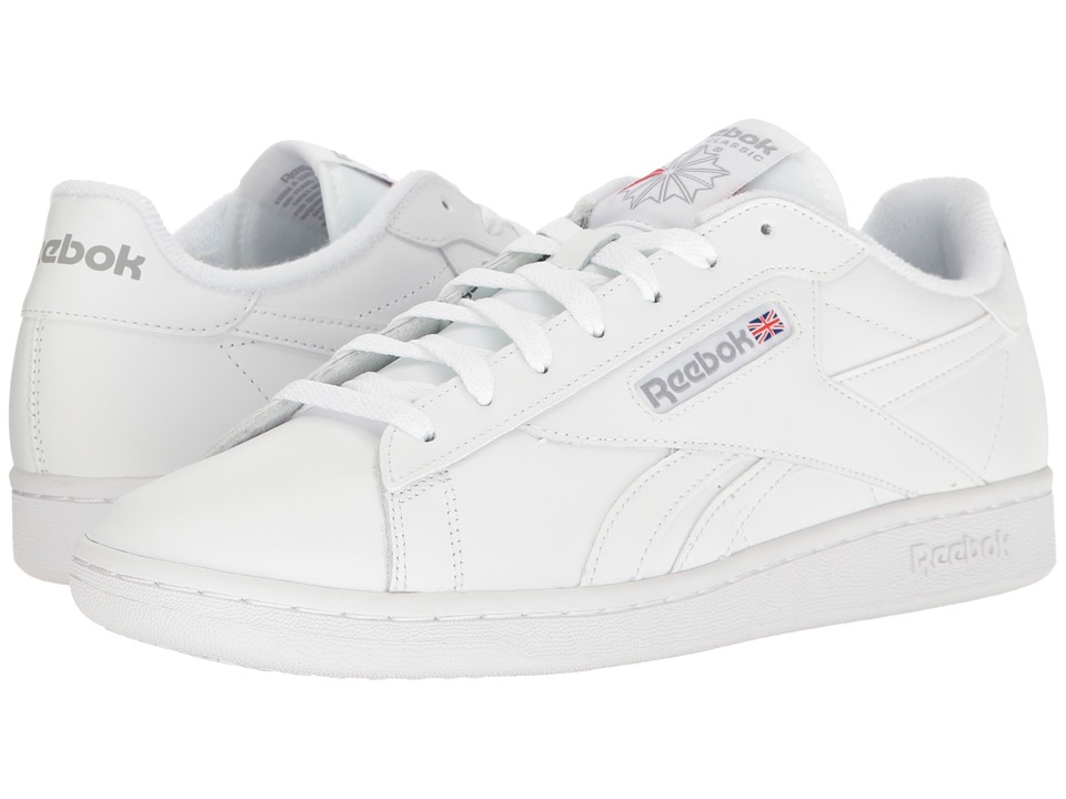 Reebok - NPC UK Retro (White/Light Grey/Excellent Red) Men's Shoes