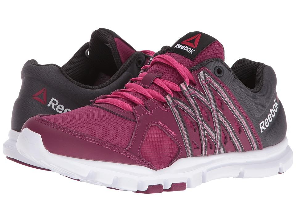 Reebok - YourFlex Trainette 8.0LMT (Rebel Berry/Coal/Rose Rag) Women's Shoes