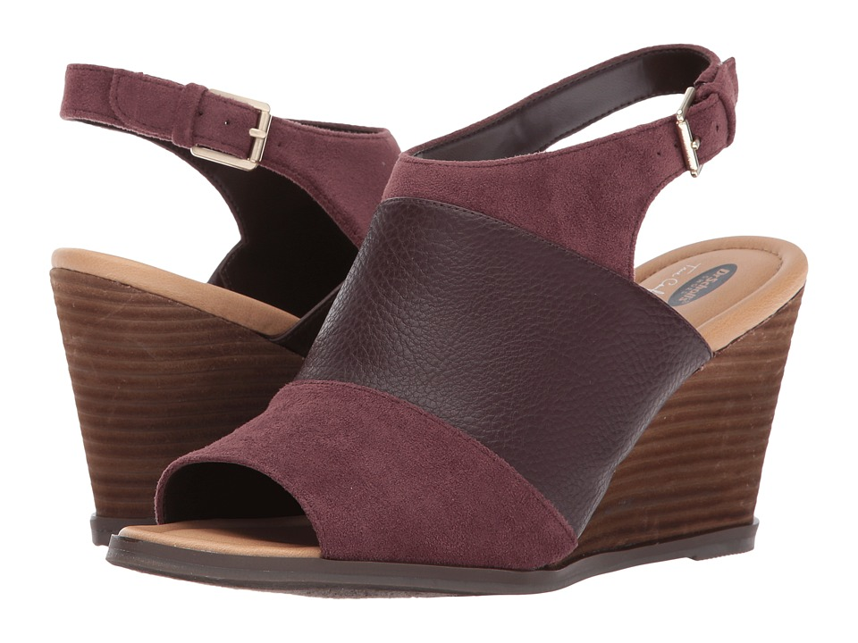 Dr. Scholl's - Peaceful (Merlot Smooth/Microfiber) Women's Shoes