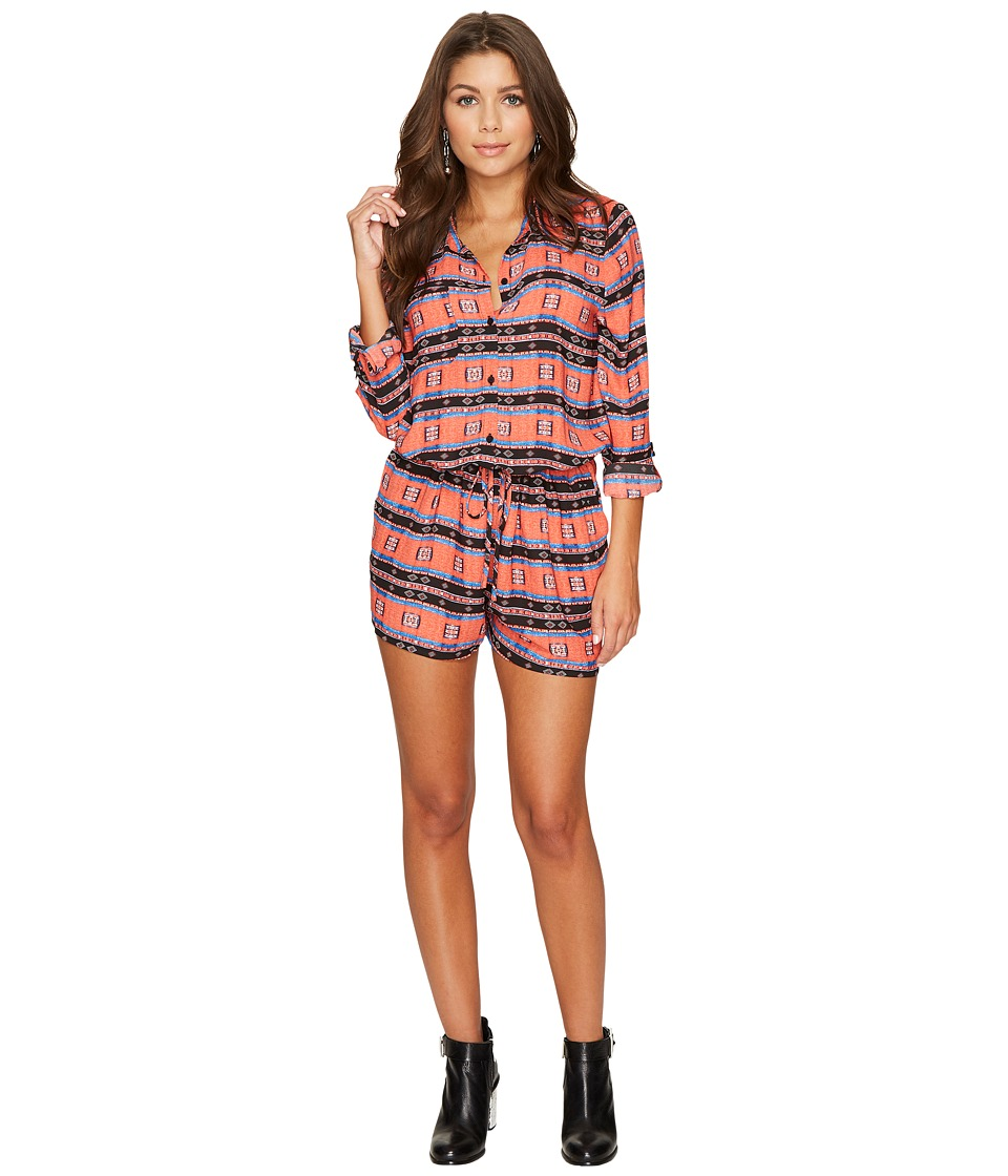 Jack by BB Dakota - Gregg Printed Romper (Salsa Red) Women's Jumpsuit & Rompers One Piece