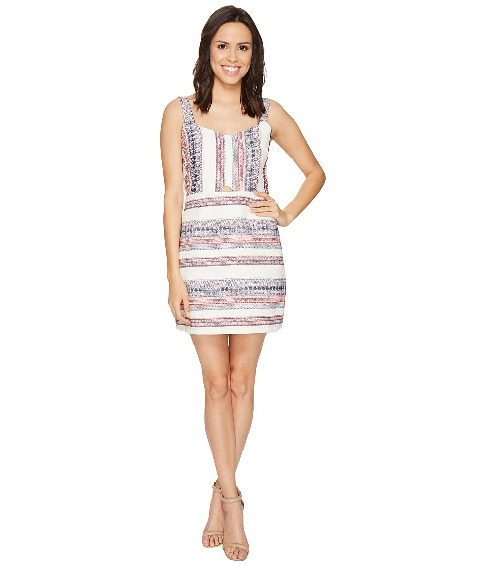 Brigitte Bailey Alexis Front Cut Out Jaquard Dress (Pink/Navy) Women