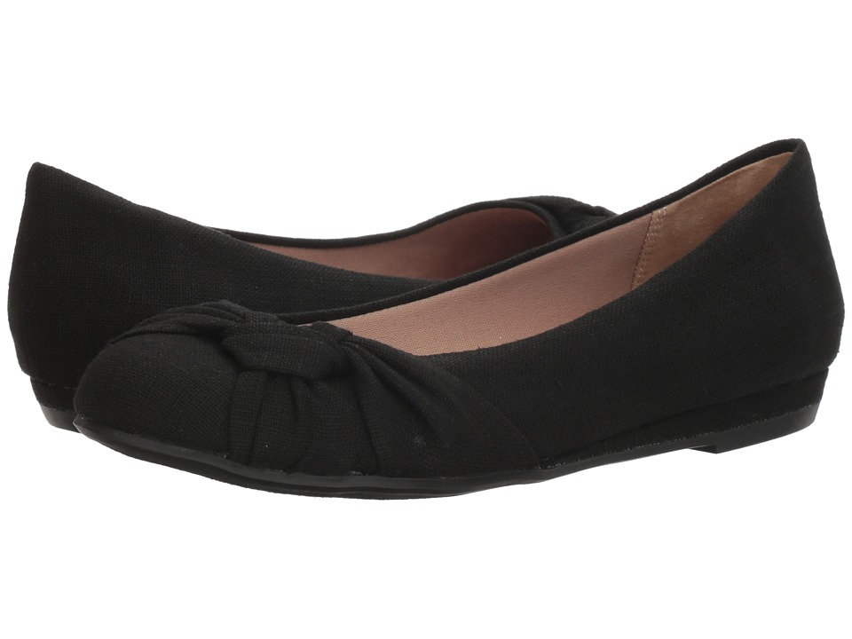 Fergalicious - Sloan (Black Linen) Women's Shoes