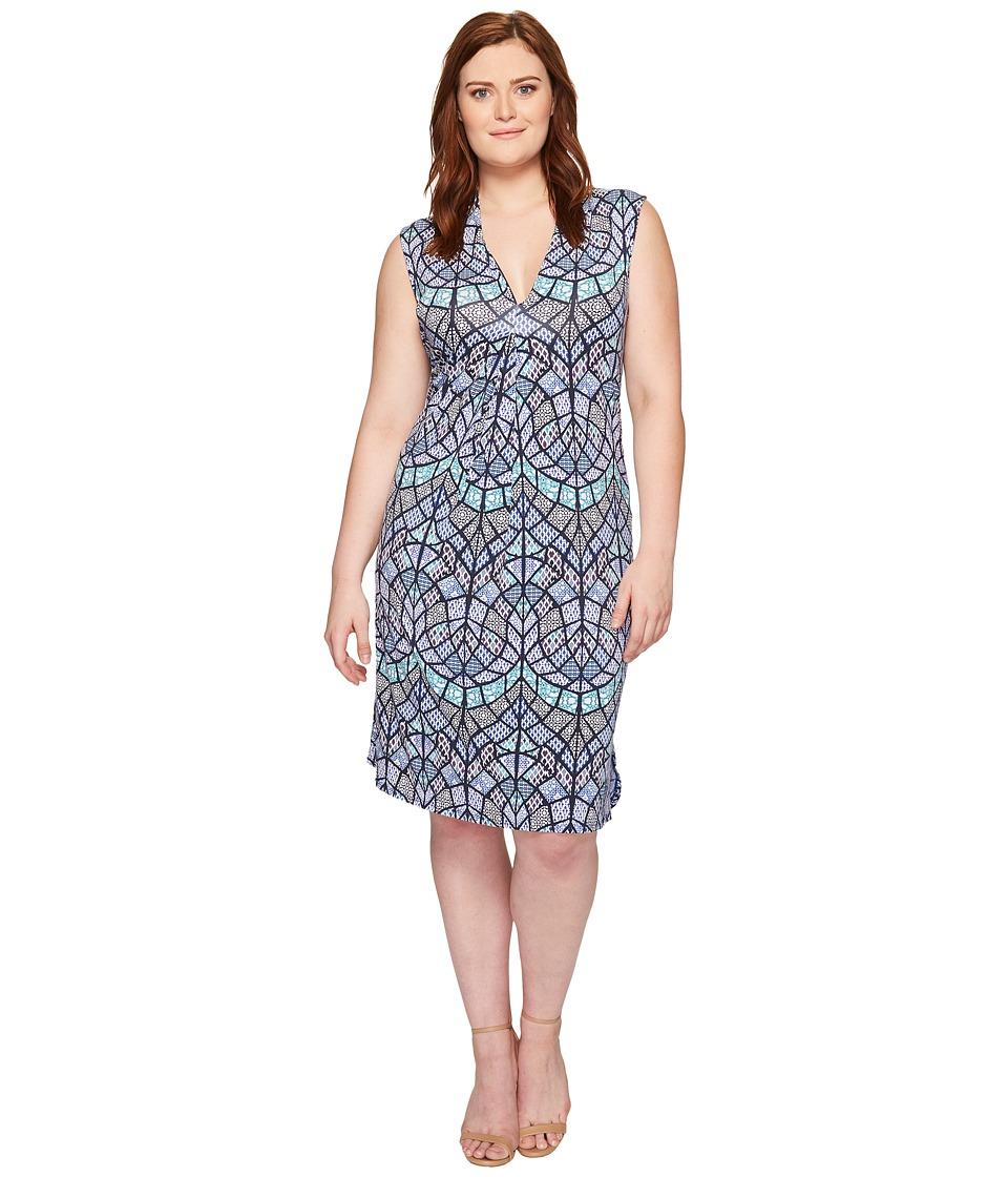 Tart Plus Size Tara Dress (Tile Mosaic) Women