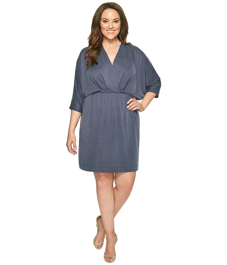 Tart - Plus Size Constance Dress (Steel Blue) Women's Dress