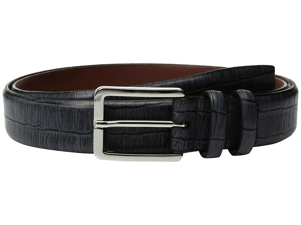 Torino Leather Co. - 35mm Italian Brushed Gator Tail Embossed Calf (Grey) Men's Belts