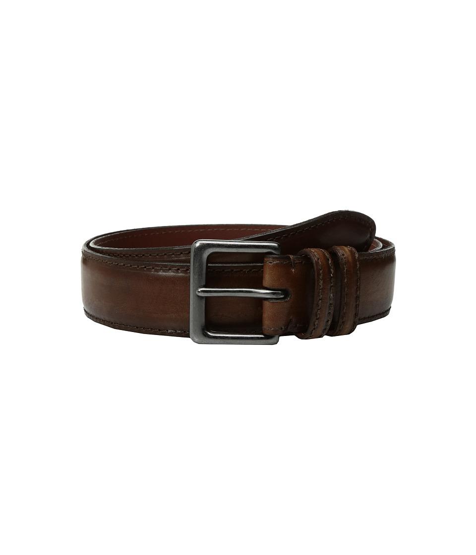 Torino Leather Co. - 40mm Italian Antique Shrunken Shoulders (Brown) Men's Belts