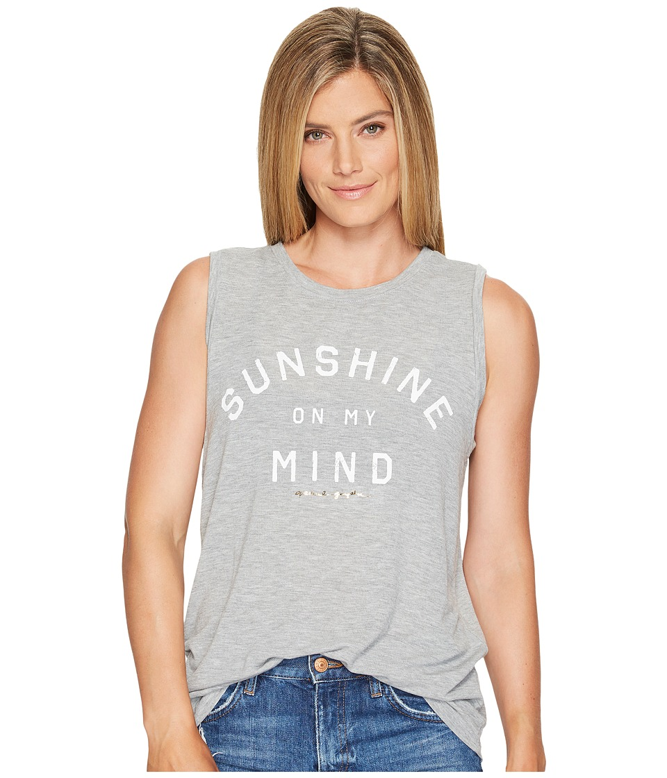 Spiritual Gangster - Sunshine On My Mind Chakra Tank Top (Heather Grey) Women's Sleeveless