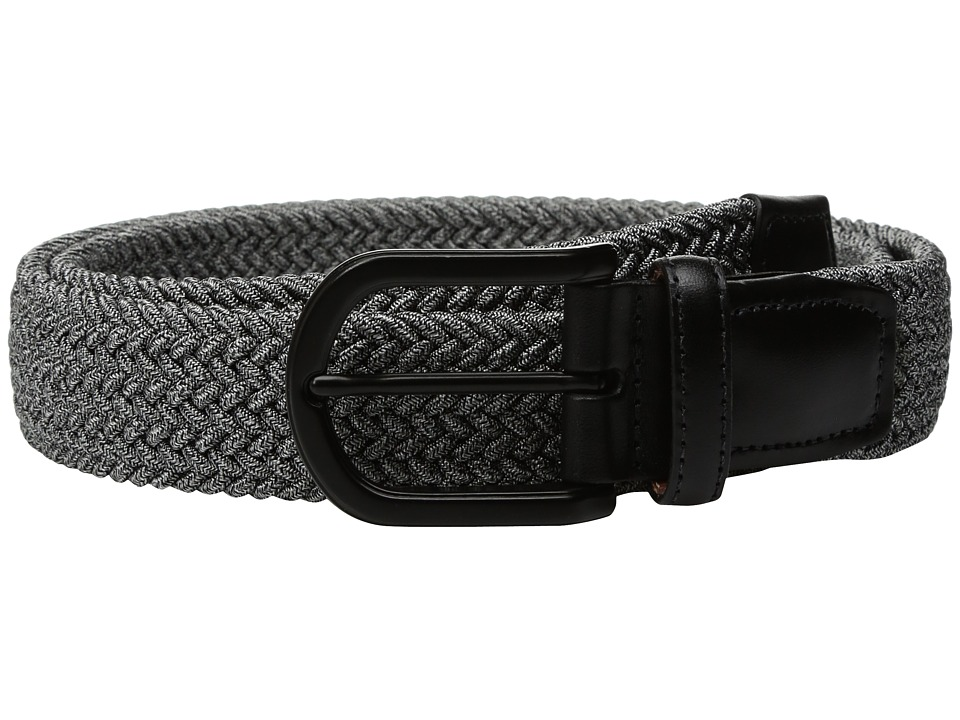 Torino Leather Co. - 35mm Italian Braided Melange Rayon Elastic (Grey) Men's Belts