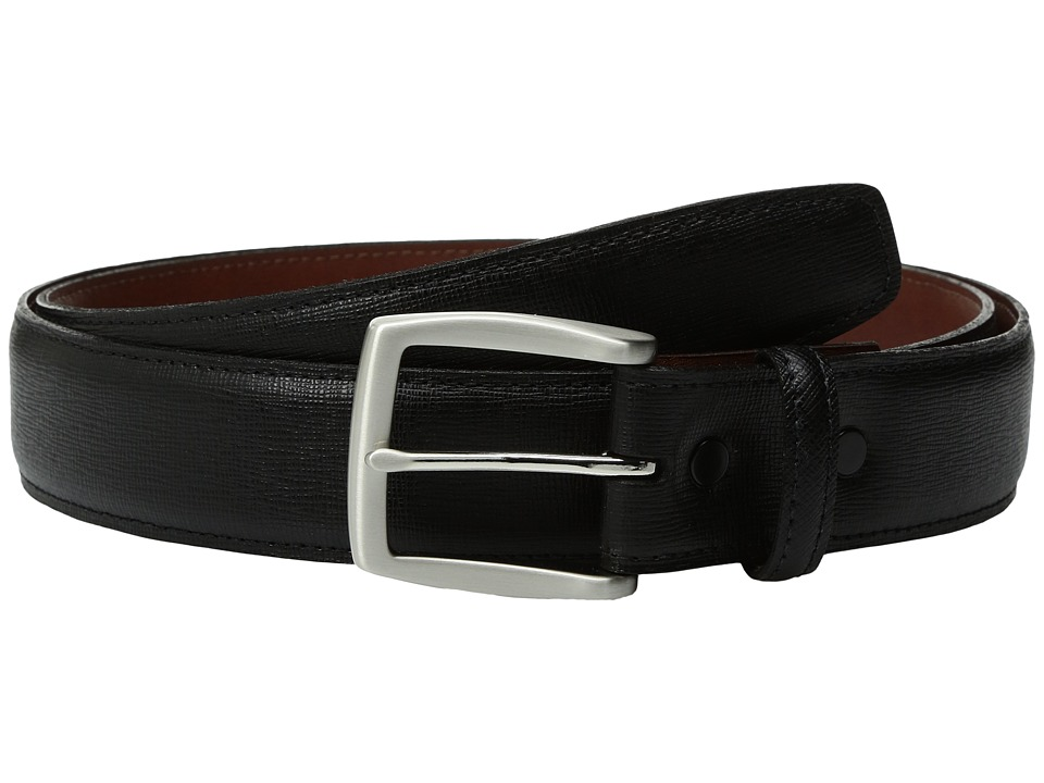 Torino Leather Co. - 35mm Saffiano Embossed Cowhide (Black) Men's Belts