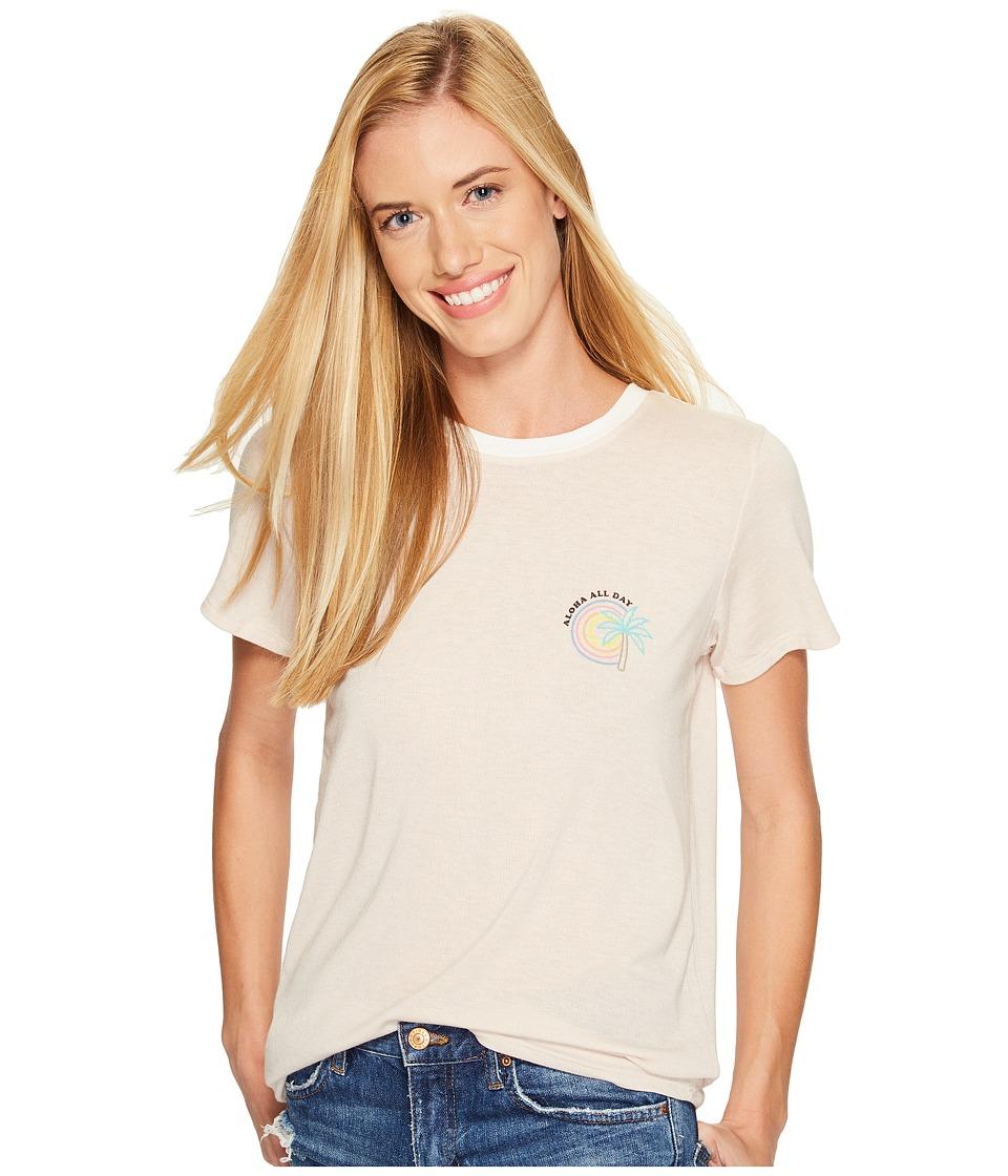 Spiritual Gangster - Aloha All Day Zen Tee (Sand) Women's T Shirt